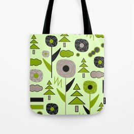 Flowers on a rainy day Tote Bag