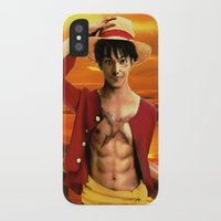 luffy iPhone & iPod Cases featuring Monkey D. Luffy real style by Shibuz4