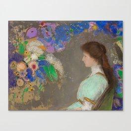 "Odilon Redon ""Portrait of Violett Heymann"" Canvas Print"