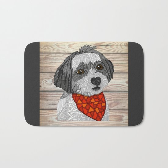 Max the Havanese Bath Mat