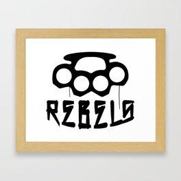 Rebels Brass Knuckles Framed Art Print