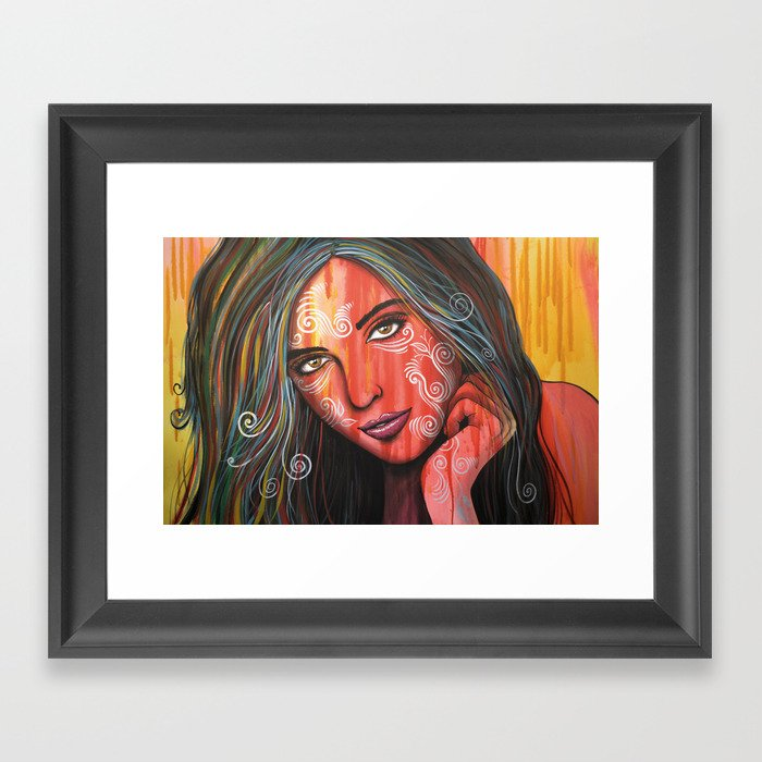 Abstract Portrait Face Black Art