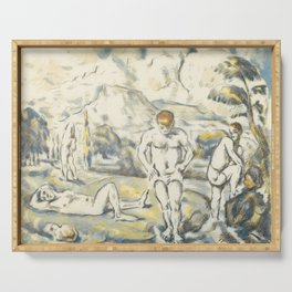 Paul Cezanne - The Bathers, 1896 Serving Tray