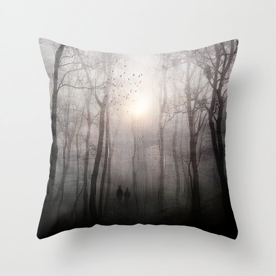 Eternal walk Throw Pillow