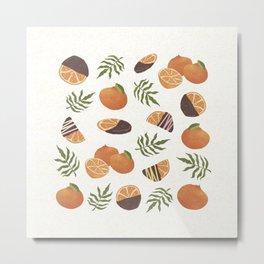 Orange dipped in chocolate/ fresh orange/ healthy fruit/ sweet gift/ orange lovers Metal Print
