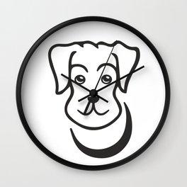 puppy, dog, cartoon, friend, pet, cutie Wall Clock