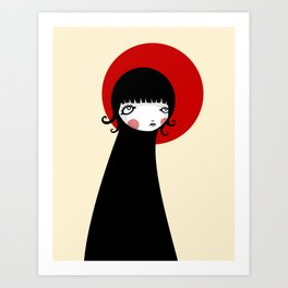Redd Moon Art Print