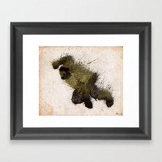 The Angry man Framed Art Print
