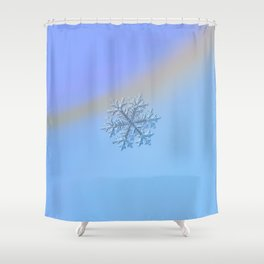 Real snowflake - Hyperion Shower Curtain