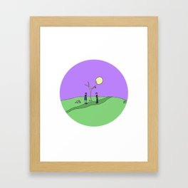 Let's Go We Can't Framed Art Print
