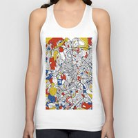 rome Tank Tops featuring Rome by Mondrian Maps