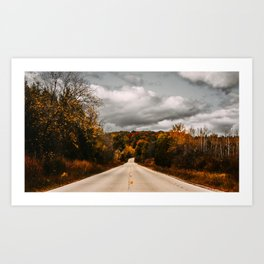 Just Another Wisconsin Road Art Print