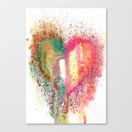 Heart Watercolor Art Canvas Print