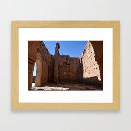 Ruins of El Badii (Marrakech) Framed Art Print