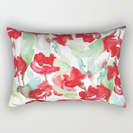 Floral Watercolor Pattern designed by #Mahsawatercolor Rectangular Pillow