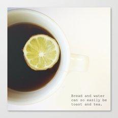 Toast & Tea 2 Canvas Print