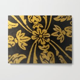 Nouveau Gold Metal Print