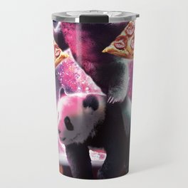 Space Sloth With Pizza On Panda Riding Cola Travel Mug
