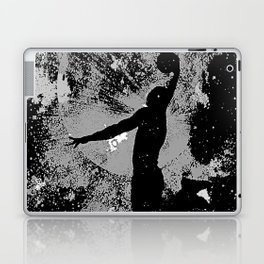 SLAM DUNK IN BLACK AND WHITE Laptop & iPad Skin