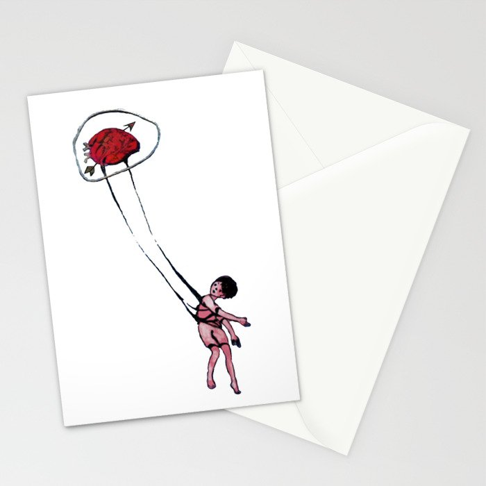 my sight looked back Stationery Cards
