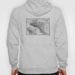 Vintage Map of Central America (1902) BW Hoody