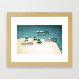 Evolutionary Line Framed Art Print