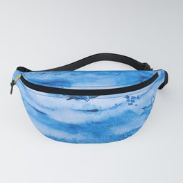 Great white in blue Fanny Pack