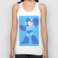 mega man Tank Tops featuring Mega Man(Smash)Black by samaran