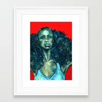 power Framed Art Prints featuring POWER by Iconic Arts