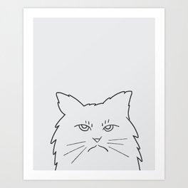 Angry Kitty Art Print