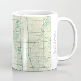 Beijing Map Blue Vintage Coffee Mug