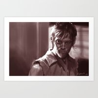 daryl Art Prints featuring Daryl  by Jim Gallo