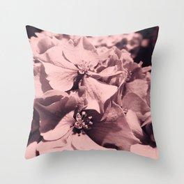 Vintage Hydrangeas Throw Pillow