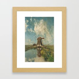 A mill on a polder canal, known as 'In the month of July' - Paul Joseph Constantin Gabriël (1889) Framed Art Print