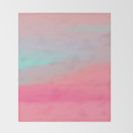 Rose Quartz Haze Throw Blanket