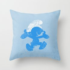 KRAZY BLUE Throw Pillow