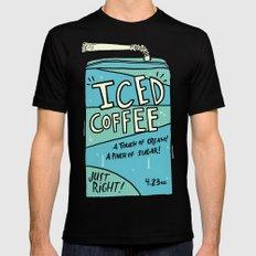 Iced Coffee Juicebox Mens Fitted Tee Black MEDIUM