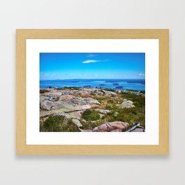 View of Bar Harbor, Maine from Cadillac Mountain (3) Framed Art Print