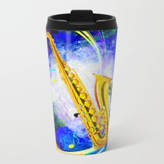 SAXOPHONE Metal Travel Mug