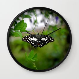 Butterfly Small Wall Clock