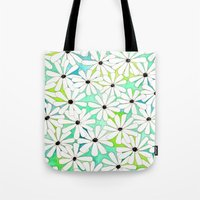 daisies Tote Bags featuring Daisies by messy bed studio