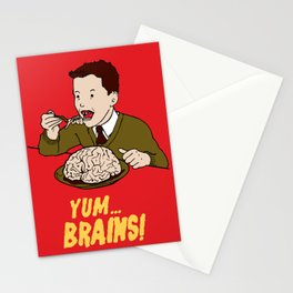 YUM... BRAINS! Stationery Cards
