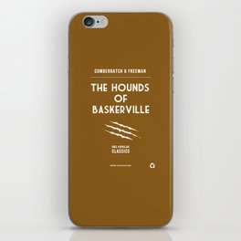 BBC Sherlock The Hounds of Baskerville Minimalist Poster iPhone Skin