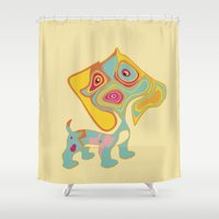 doge Shower Curtains featuring doge by vidikay