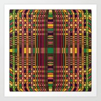 grid Art Prints featuring Grid by Glanoramay