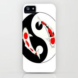 Koi Kohaku and Taisho Sanke Yin Yang iPhone Case