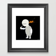 The small robot who wanted to be a child Framed Art Print