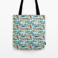 muscle Tote Bags featuring Muscle Cars by Mario Zucca