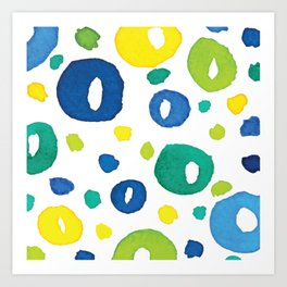 Watercolour Circles Art Print