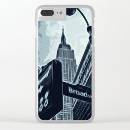 Streets of New York - Broadway view Clear iPhone Case